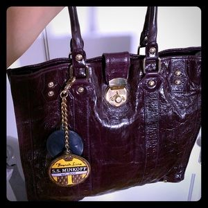 Rebecca Minkoff purple patent leather bag